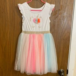 Neon Rainbow Tutu Unicorn Dress